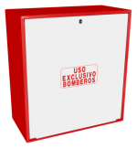 Cofre de superficie IPF-40 rojo / Puerta ciega blanca