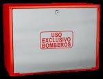 Cofre de superficie IPF-41 rojo / Puerta ciega  INOX